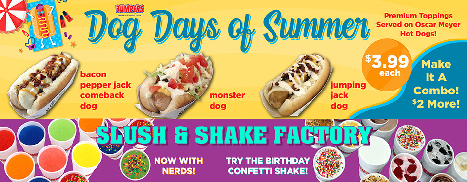 Bumpers June promo dog days of summer
