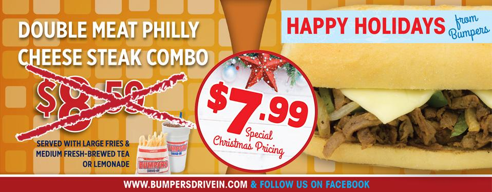 Double Meat Philly Cheese Steak Combo