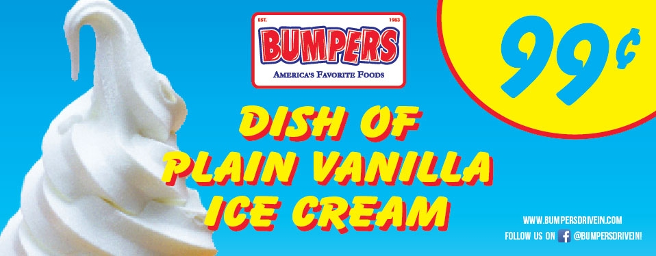 Dish of Plain Vanilla Ice Cream