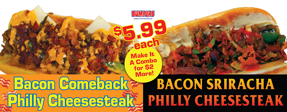 Bacon Comeback, Bacon Sriracha Philly Cheesesteak